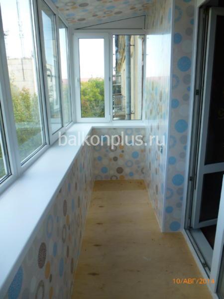 Отделка балконов в Челябинске пластиковыми панелями пвх.
