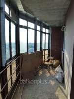Челябинск, ул. Окружная, утепление лоджии в доме со стеклянным фасадом.