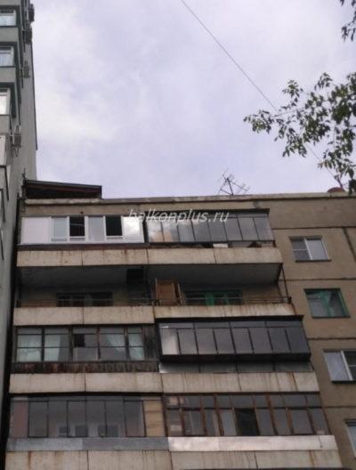 Отделка балкона в Челябинске гипсокартоном с объединением.