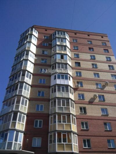 Остекление и утепление эркерного балкона в Челябинске. 2018 год