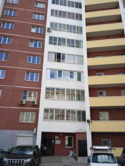 Остекление лоджии в Екатеринбурге с низким ограждением
