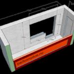 Эскиз балкона под отделку в доме 97-й серии.