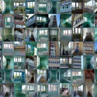 Коллаж из утепленных балконов и лоджий. 2010 – 2012 год.