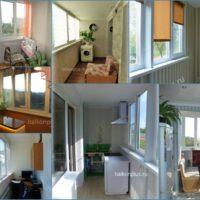 Утепление балкона под кабинет, кухню, объединение с комнатой.