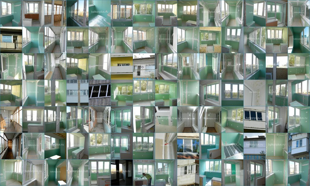 Утепленные балконы и лоджии в 2013 - 2014 году. Коллаж 3 из фото балконов