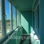Лоджия в доме 97-й серии с теплым полом в Челябинске