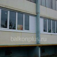 Пример оптимального остекления для теплого балкона