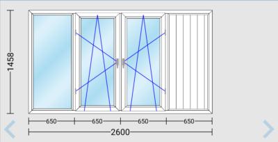 Остекление балкона или лоджии окнами ПВХ длиной 2600 мм в доме 121-й серии.
