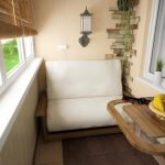 Откидной столик на балконе экономит место