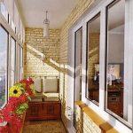 Отделка балкона искусственным камнем. Модель