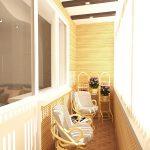 Модель балкона с креслами