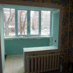 Объединение балкона с комнатой Челябинск 2016 год