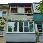 Отделка балкона фото 715 поселок Нагорный